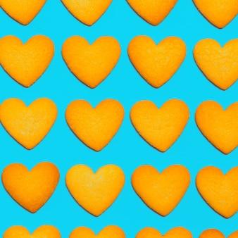 クッキーの背景。ミニマルアートデザインキャンディーカラー
