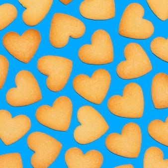 クッキーの背景。最小限のアートデザイン