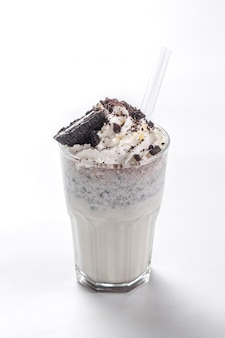 Cookies and cream milk shake frappe iced blend