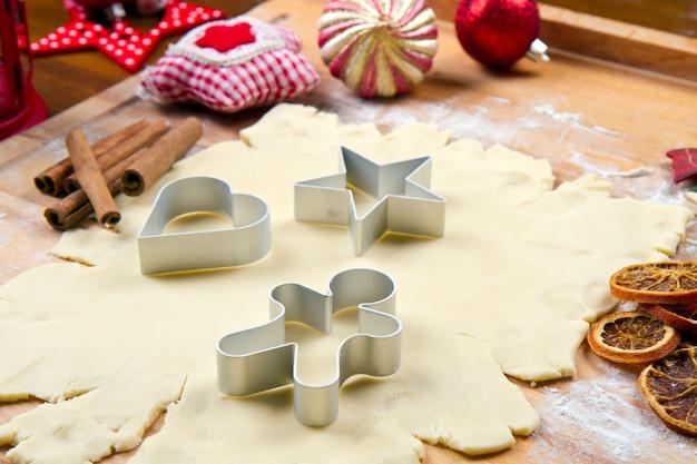 Cookies dough homemade for christmas