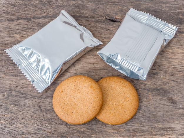 Cookies and foil package