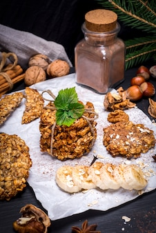 Cookies from oat flakes and banana