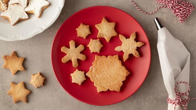 雪片の形の概念のクッキー