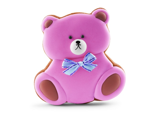 새끼 곰 모양의 쿠키