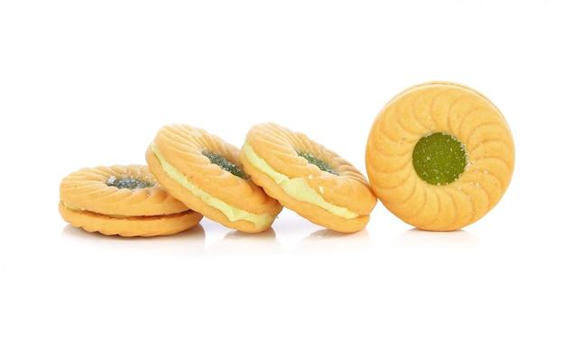 クッキー、白で隔離