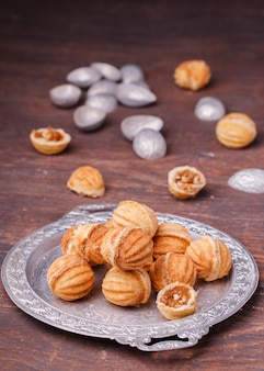 Cookies nuts with condensed milk