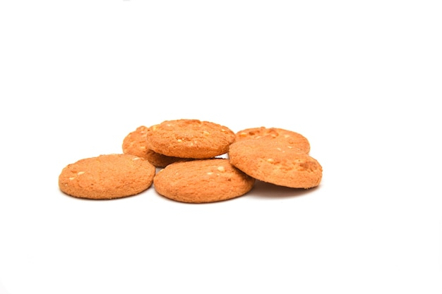 白い背景の上のクッキー