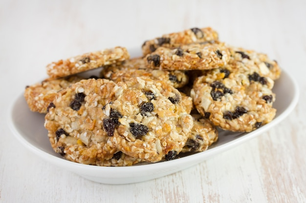 Cookies on white dish