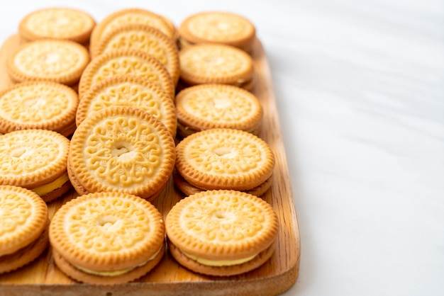 Cookies with butter cream