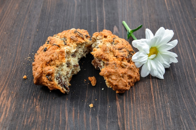 Cookies with cereals for a healthy diet