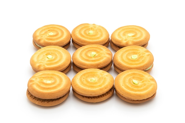 Печенье с кремом из пандана