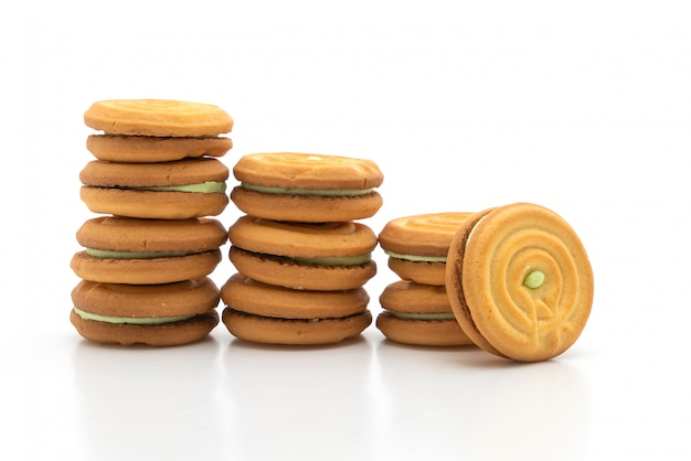 Cookies with pandan cream