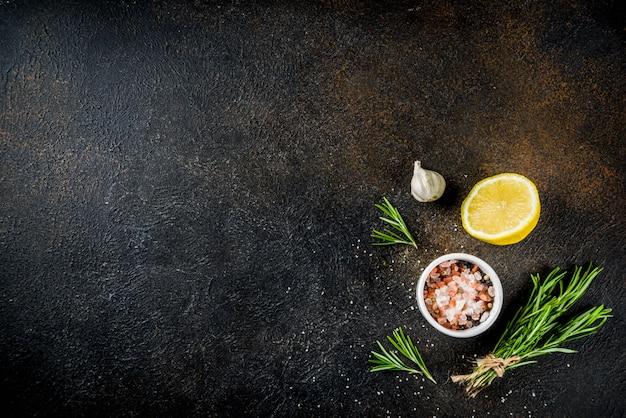 Cooking food ingredients background