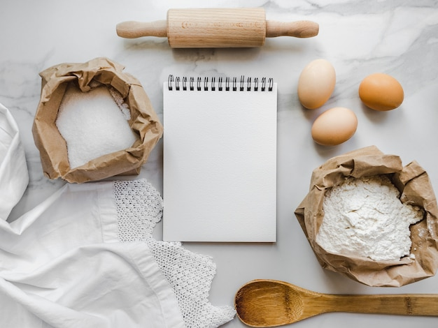 Cooking homemade bakery products. delicious and healthy food concept