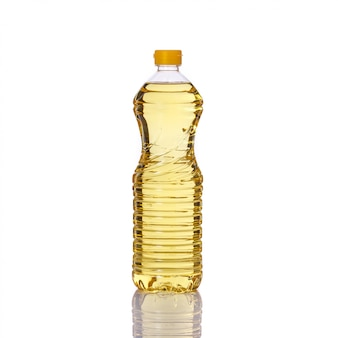 Cooking oil in plastic bottle.