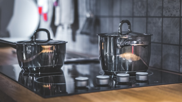 Cooking pot on electric stove