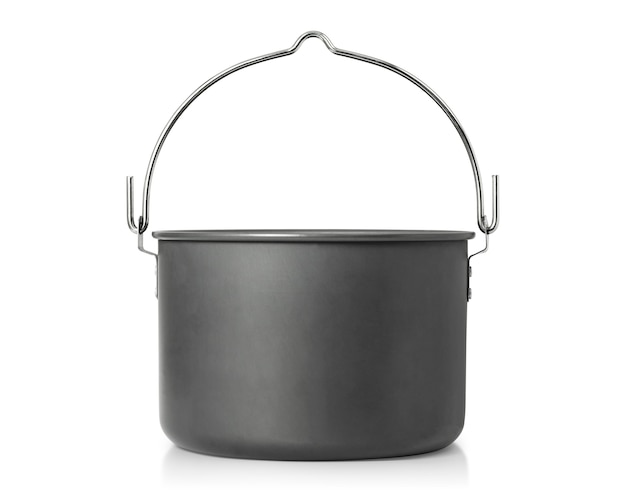 Cooking pot isolated. outdoor cooking pots for camping.