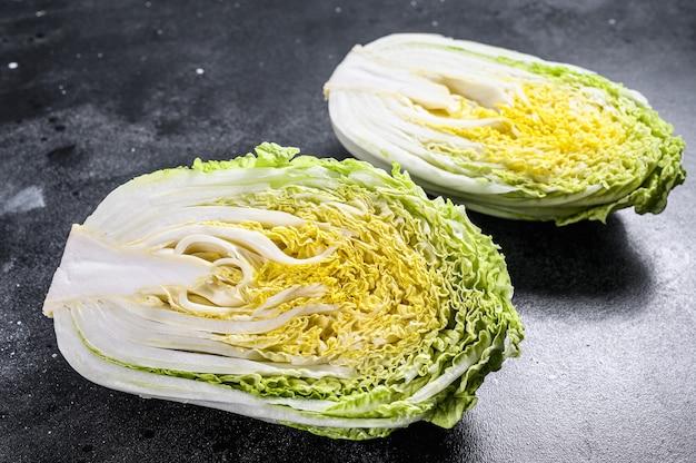 白菜サラダの調理。黒いスペース。上面図