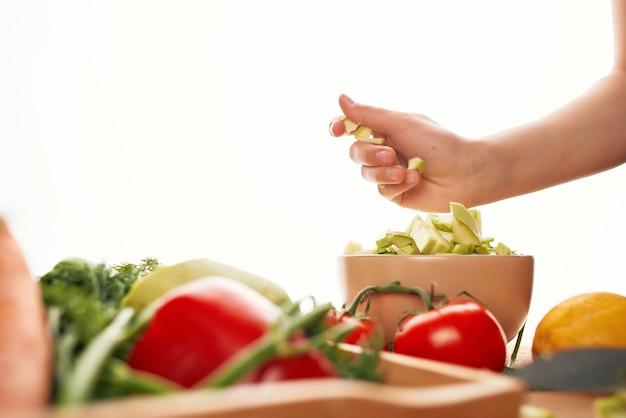 요리 슬라이스 야채 주방 건강한 식생활 샐러드