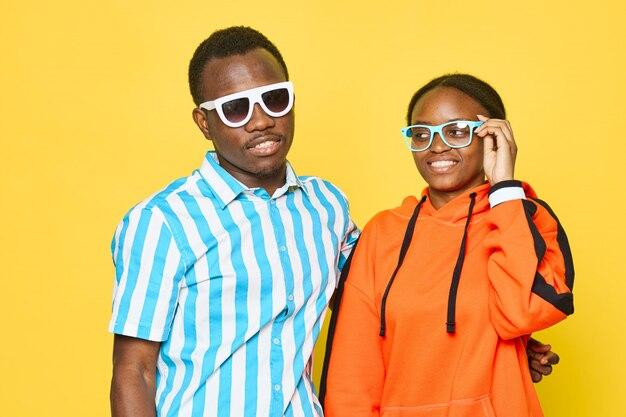 Cool black couple posing