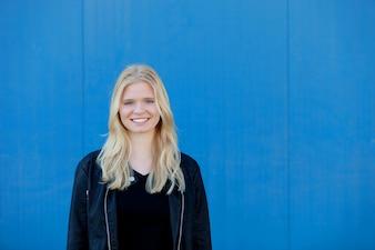 Cool blonde girl outdoor