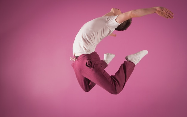 Cool break dancer mid air