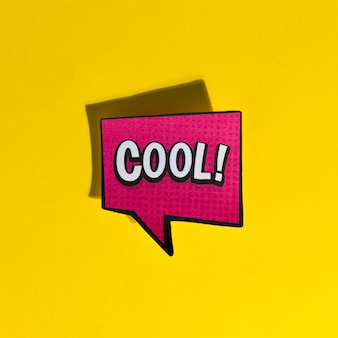 Cool comic book bubble text pop art retro style
