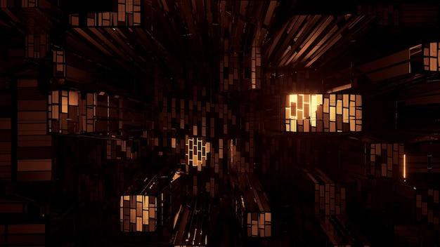 Крутые футуристические научно-фантастические техно-огни для футуристических фонов