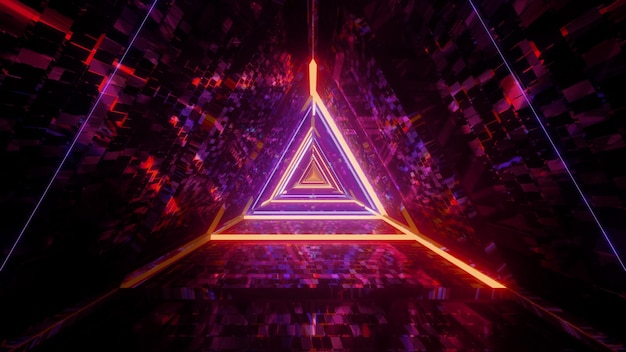 Cool futuristic triangle 3d background Premium Photo