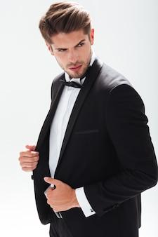 Классная модель в костюме