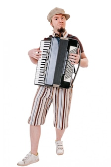 Cool musician with accordion