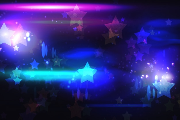 Cool nightlife design with stars