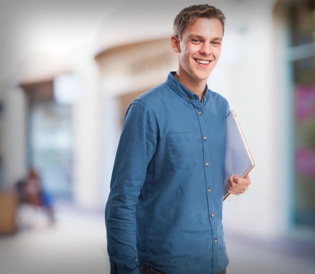 Fresco notebook studente-man