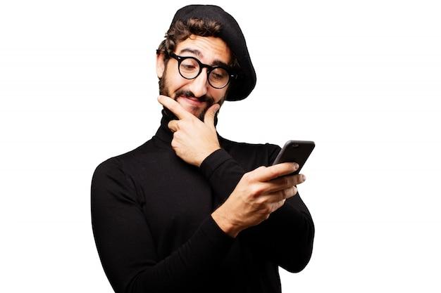 Cool success creative adult internet