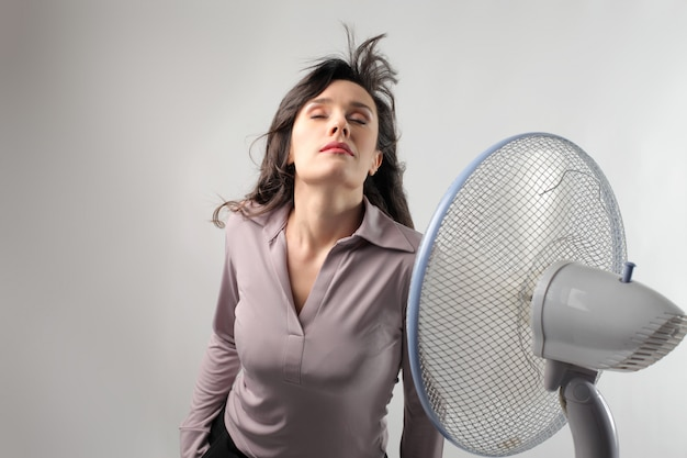 Cooling down with a fan