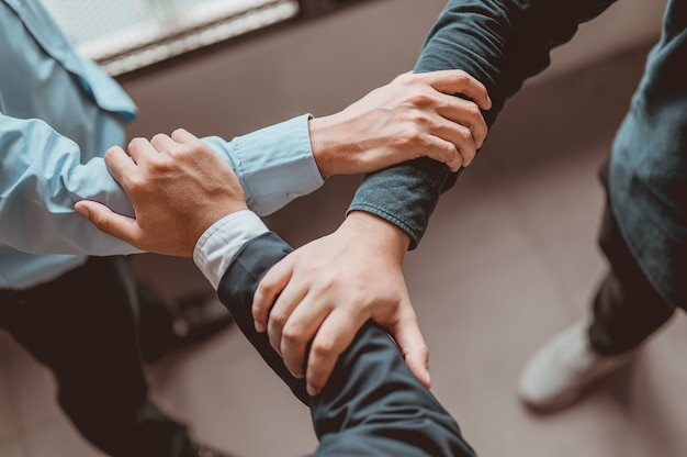 Coordination of hands. bussiness, teamwork,success, working, successful concept.