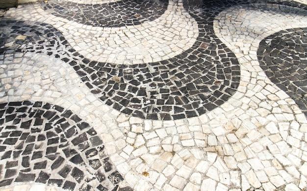 Copacabana sidewalk in rio de janeiro brazil.