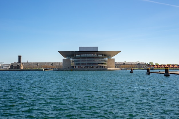 The copenhagen opera house landmark in copenhagen city, denmark