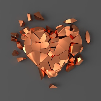 Copper broken heart