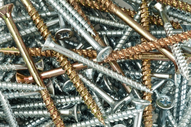 Copper and silver screws and nails
