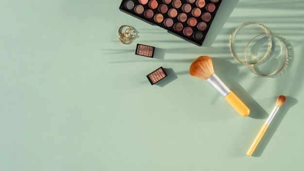 Copy-space beauty cosmetics products
