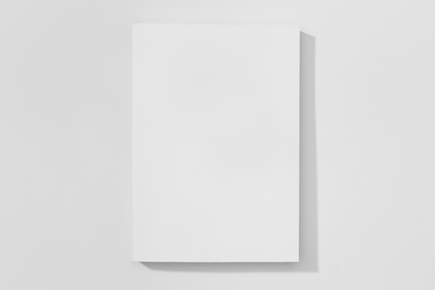 Copy space book on white background