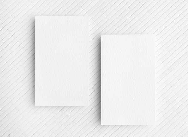 Copy space business cards on white background