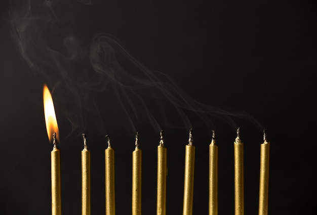 Copy-space свечи для вечеринки