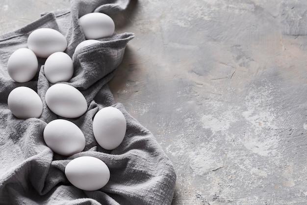 卵を使ったコピースペースの服