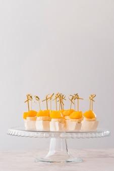 Copy-space delicious dessert