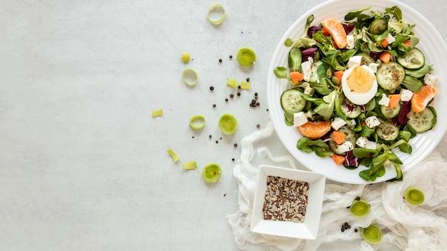 Copy-space вкусный салат