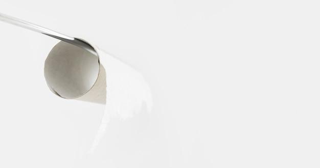 Rotolo di carta igienica vuoto copia-spazio