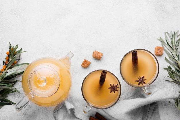 Copy-space flavored juice