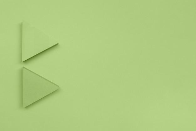 コピースペースの緑色の矢印ポインター